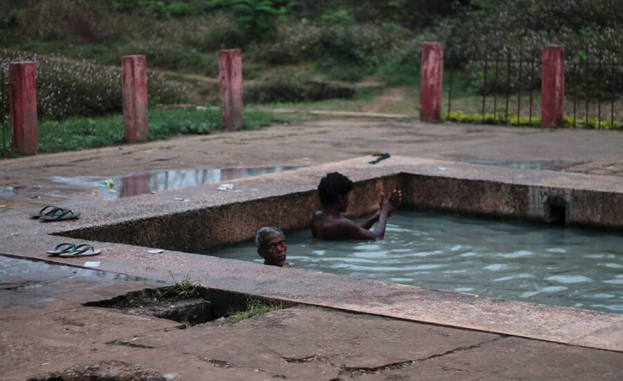 Bathers in the hot spring